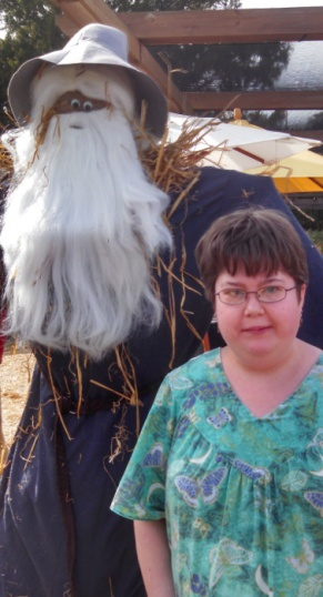 kayla-with-gandalf-scarecrow