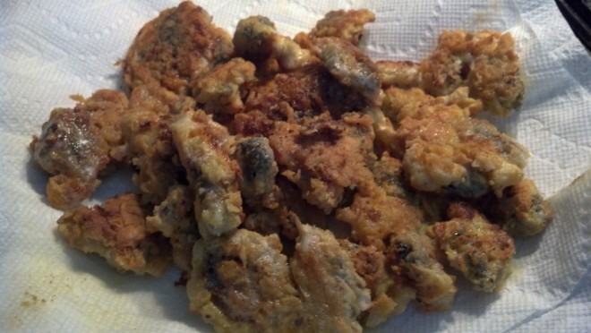 Fried morels